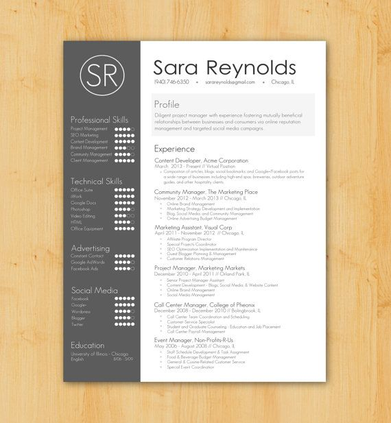 17 best images about b r a n d i n g c v on pinterest cool resumes self - Simple resume design ...