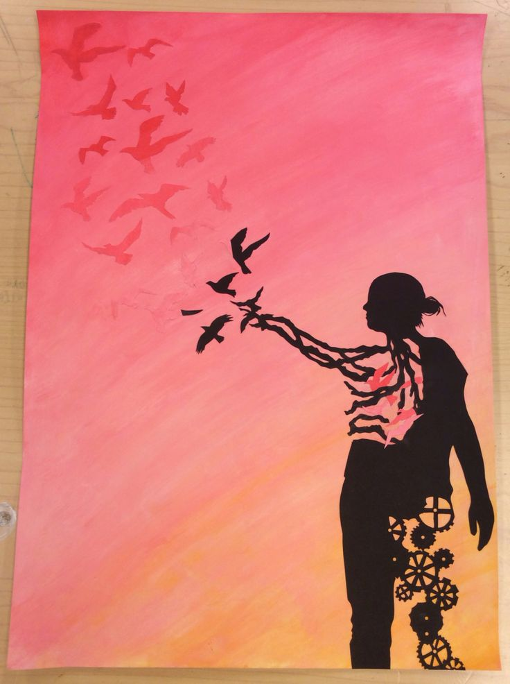 #7 silhouette on acrylic background