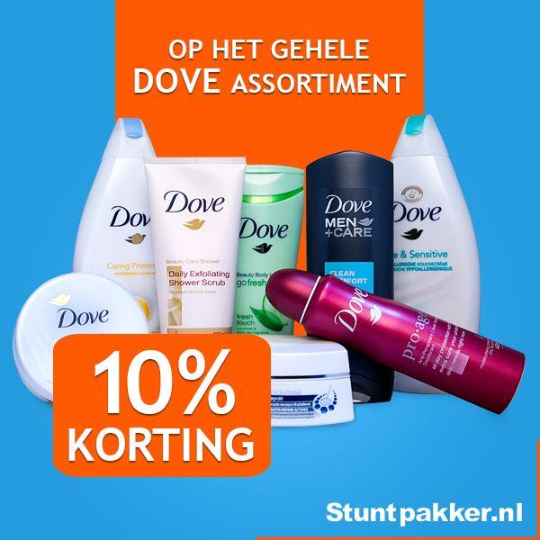 Dove heeft een groot assortiment aan producten voor de perfecte persoonlijke verzorging voor mannen & vrouwen.  Dove gelooft dat iedereen mooi is. Als je je goed voelt van binnen, ben je op je mooist!  Deze week 10% KORTING op het gehele Dove assortiment!  www.stuntpakker.nl