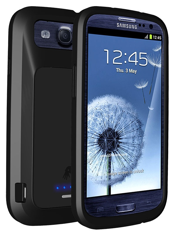 PowerSkin NFC-enabled battery case for the Samsung Galaxy S3