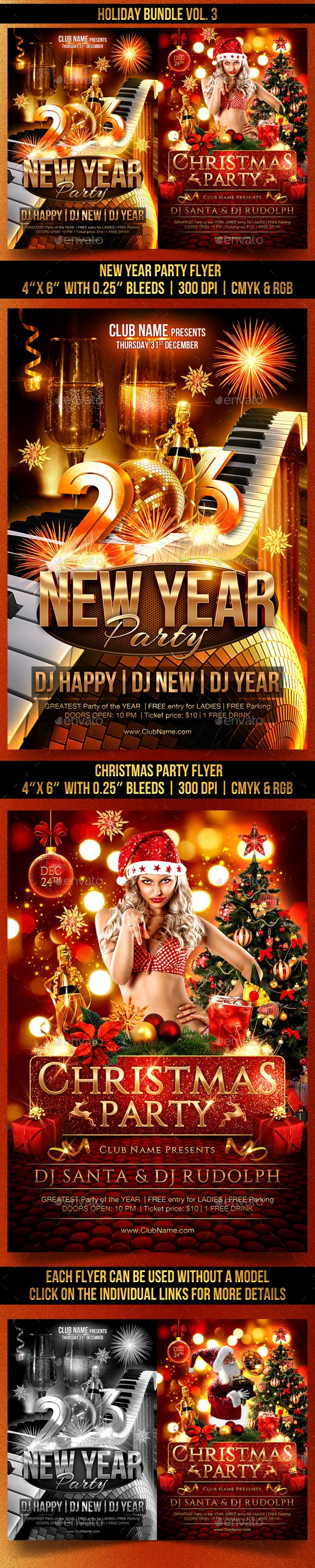 images about new year party flyer templates holiday flyer template psd bundle design graphicriver net