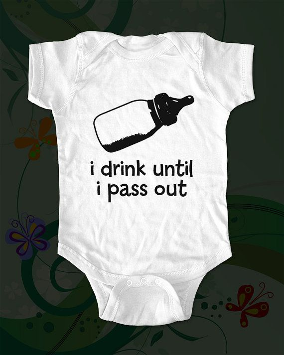 i drink until i pass out  baby bottle  funny by cuteandfunny, $15.00