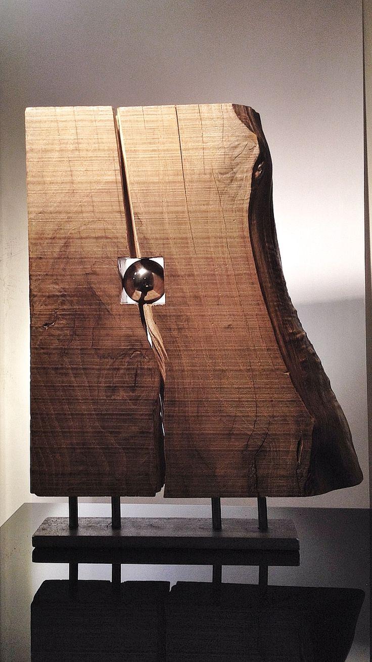"""""""contrasti materici"""" legno ed acciaio"""