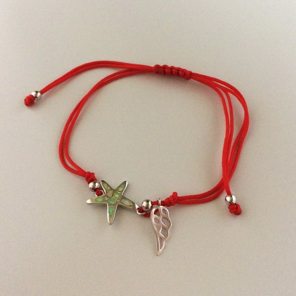 #red #star #angel #wing #lucky #new #bracelet