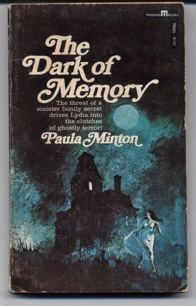 The Dark Of Memory Paula Minton Vintage 1967 Paperback Horror Halloween reading
