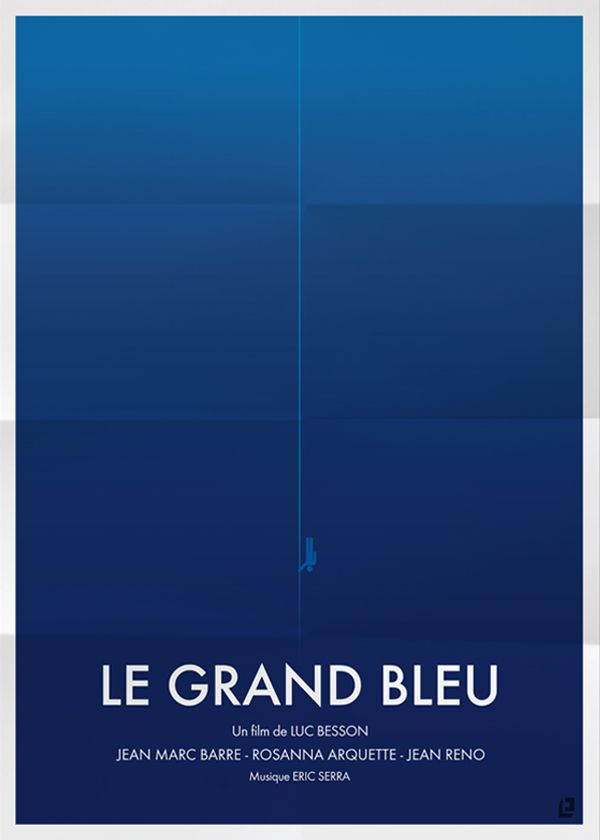 Affiches films minimaliste Le Grand Bleu