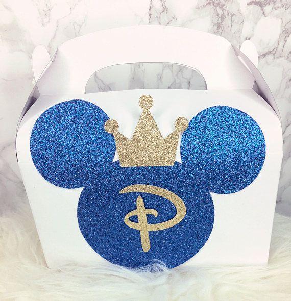 Prince Mickey birthday party favor boxes 1 dozen royal blue