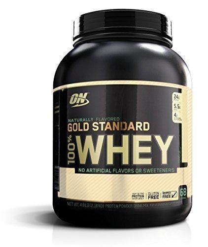 Optimum Nutrition Gold Standard 100% Whey Protein Powder Naturally Flavored Vanilla 4.8 Pound