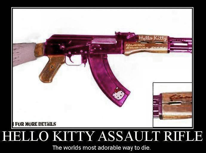 Gun Hello Kitty Assault Rifle   Hello Kitty Assault Rifle...