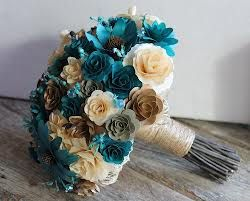 teal and brown country wedding - Google Search