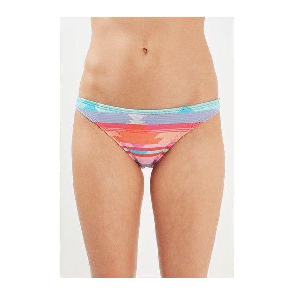 Topshop Aztec Bikini Bottoms ($18) ❤ liked on Polyvore featuring swimwear, bikinis, bikini bottoms, pink, pink bikini, bottom bikini, multi color bikini, topshop swimwear and aztec bikini bottoms