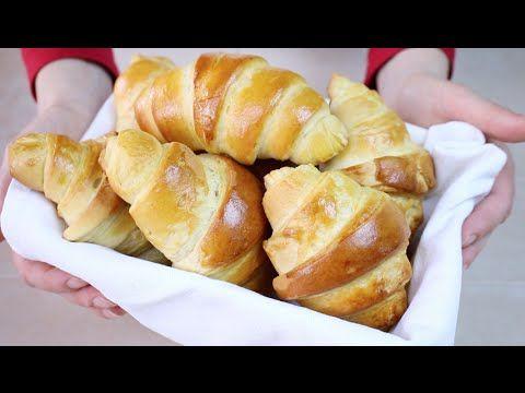 CORNETTI DOLCI Ricetta Facile con poco burro - Easy and Quick Croissant ...