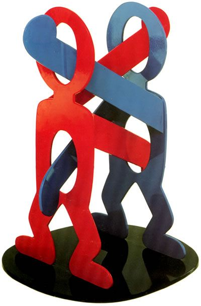 Keith Haring: Boxers (1988) ... an artist and social activist whose work responded to the New York City street culture of the 1980s.
