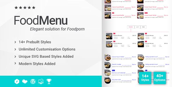 Ultimate Food Menu Addon for WPBakery Page Builder (formerly