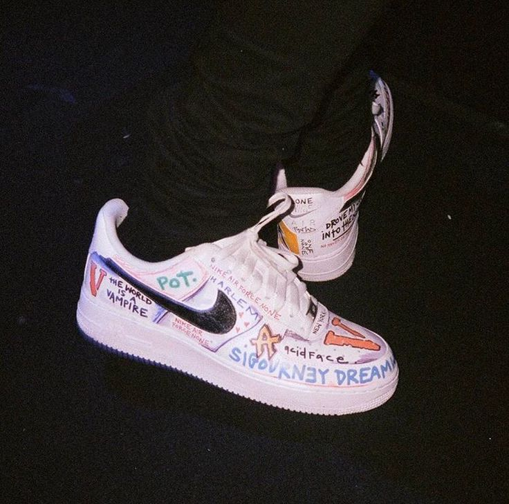 "PAULY VLONE x Nike Air Force 1 LOW WHITE ""Mase"" Custom"
