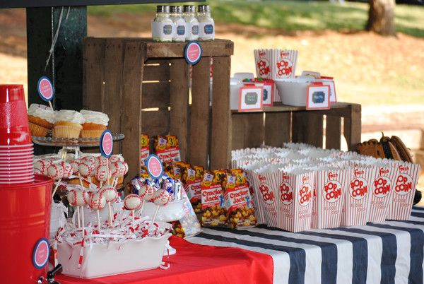Old fashioned concession stand for a baseball party! Love this idea!