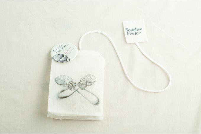 Tea bag Bath soak (white Indian organdy) by Touchee Feelee