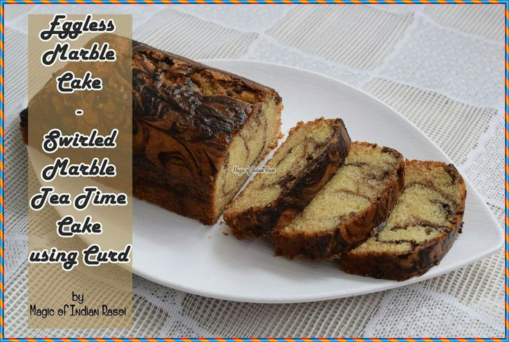 Christmas Special - Eggless Swirled Choco Marble Cake using Curd  http://magicofindianrasoi.com/eggless-marble-cake-swirled-marble-tea-time-cake-using-curd/  #christmas #xmas #eggless #marblecake #dessert #egglesscake #indiancuisine #indianrecipe #indianfoodblog #magicofindianrasoi #moir