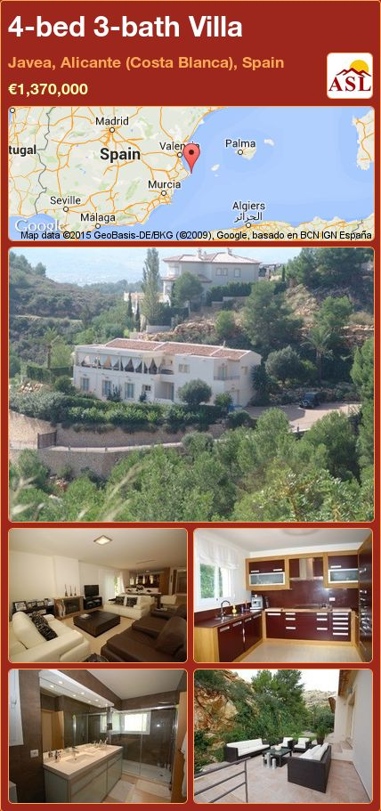 4-bed 3-bath Villa in Javea, Alicante (Costa Blanca), Spain ►€1,370,000 #PropertyForSaleInSpain