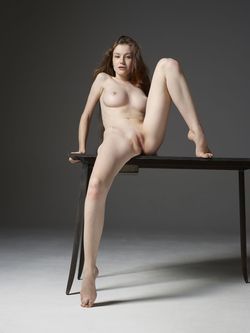Emily Bloom Hot Pussy on the Table - pics 12