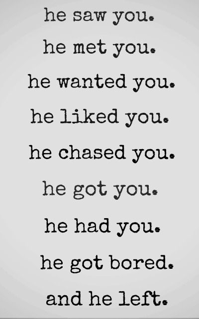 Why are most men programmed like this? There are some good men. Very Rare but they are out there. I found my Man. He better not ever leave! GRRRRRR!!!!