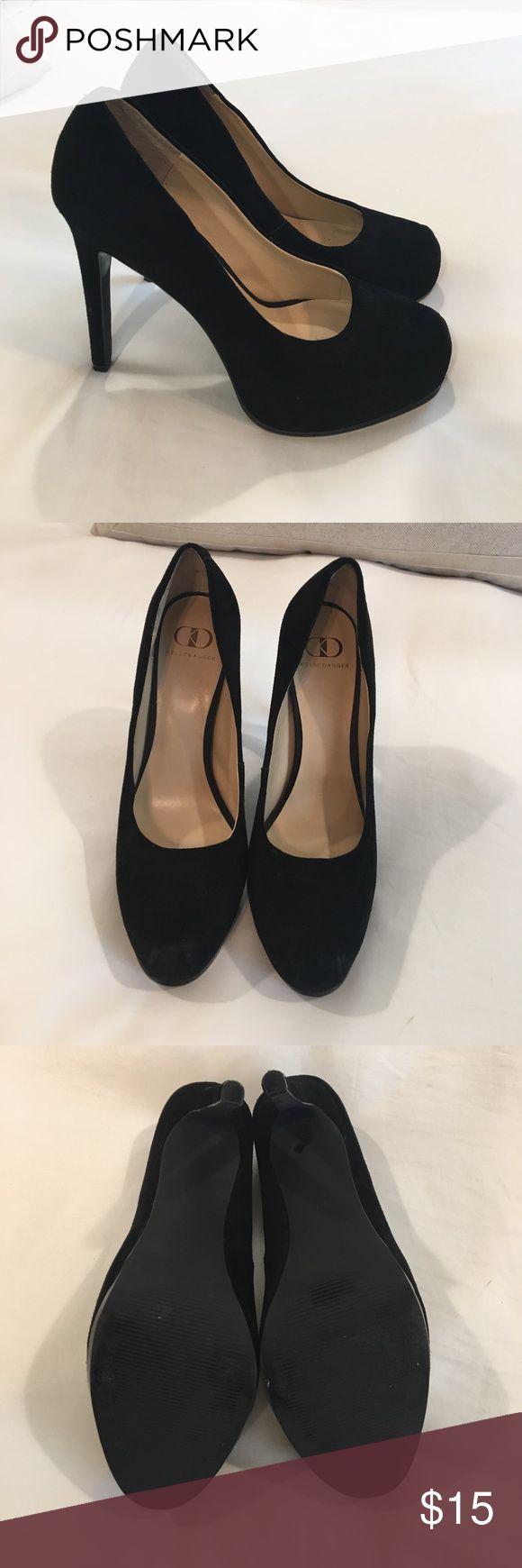 """Kelsi Dagger black suede pumps Kelsi Dagger black suede pumps, 4"""" heel, worn once and in great condition. Few small rubs on back of the heel as shown in picture. Size 10. Smoke free home. Kelsi Dagger Shoes Heels"""