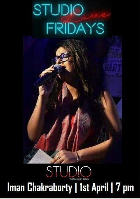 Iman Chakraborty sets the tone for Nabobarsho with Rabindrasangeet and folk music live tomorrow night at Studio Live Fridays. Event commences from 7 pm! Call 8584077058 to book your table.