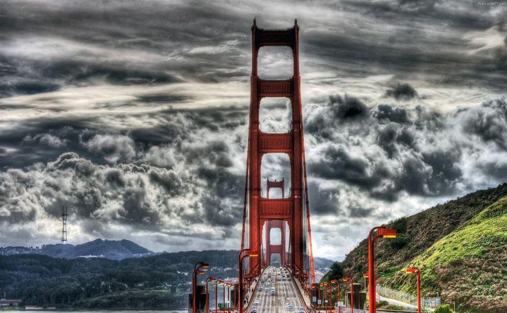 Golden Gate Bridge  red HD Wallpaper