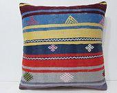 kilim pillow 24x24 moroccan pouffe large boho pillow large floor pillow euro pillow sham big pillow cover 24x24 throw pillow blue gold 22693                                                                                                                                                                                 More