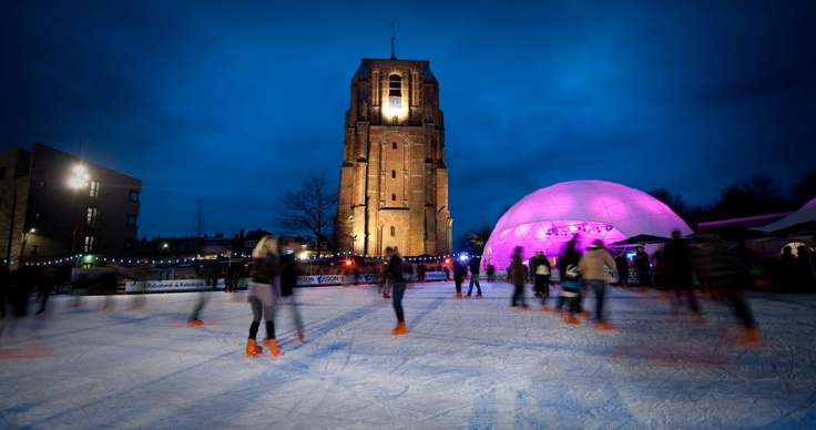 Iceskating in Leeuwarden, the Netherlands