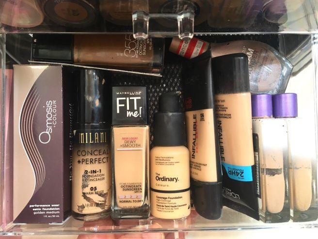 My Makeup Collection Re Organized My Makeup Collection Makeup Collection No Foundation Makeup