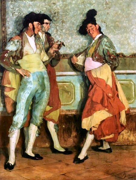 Torerillos de pueblo, Ignacio Zuloaga (1906). Ignacio Zuloaga y Zabaleta (July 26, 1870 – October 31, 1945) was a Spanish painter.