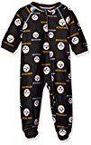 Pittsburgh Steelers NFL Infant Footed Raglan Zip Up Sleeper