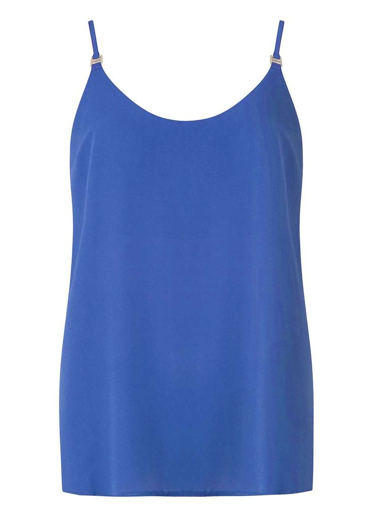 Womens Cobalt Metal Trim Camisole Top- Cobalt