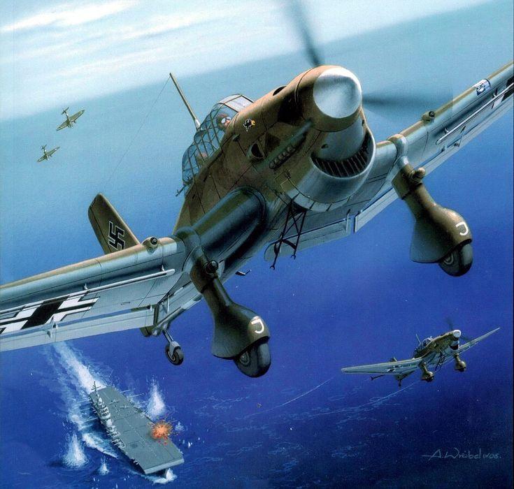 Stuka attack on HMS Illustrious 1941
