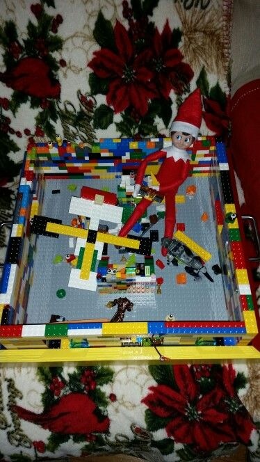 Jack's 25th nigyt, he enjoyed playing with Mitchells legos so much, look where I found him this morning.