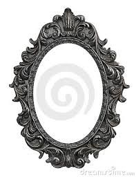 oval victorian frame drawings - Google Search