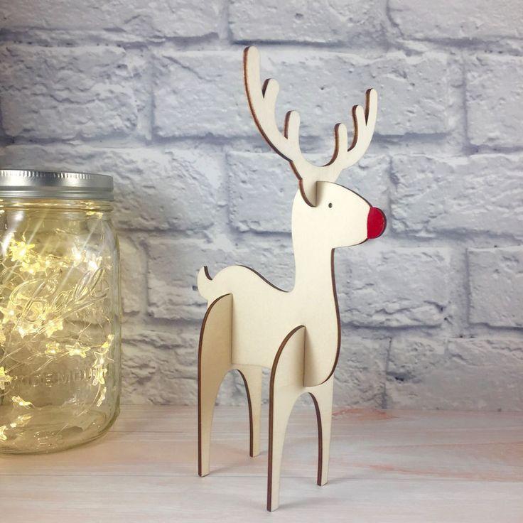 Leather Accent Tag - Christmas Reindeers by VIDA VIDA elDeAzWPV