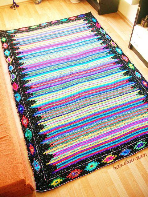 Retro Crochet Blanket by babukatorium, via Flickr