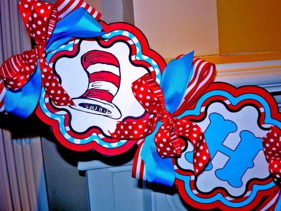 Dr Seuss Printable Party Birthday DIY Banner by OpalandMae on Etsy, $15.00