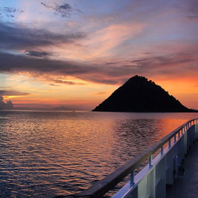 Sunset views from the inaugural trip of our newest liveaboard, Bajo Baji.