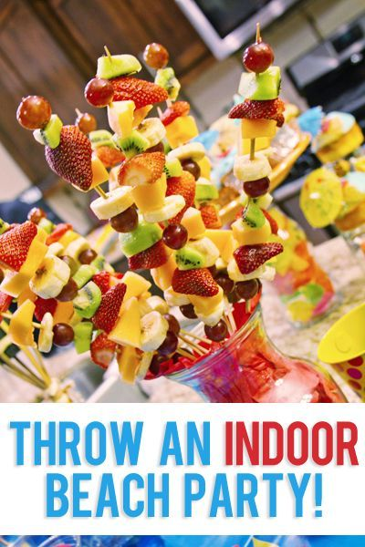Longing for the warm weather? Why not have an indoor beach party right in your own home! #MarchBreak