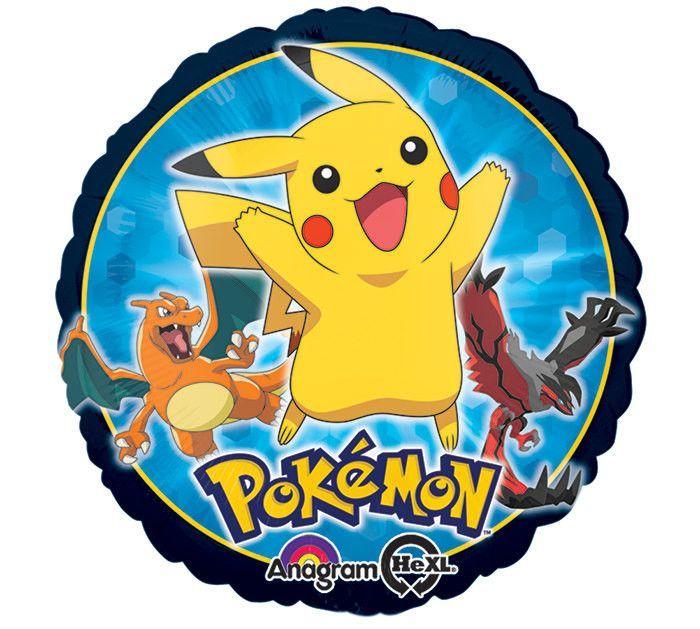 """Pokemon Balloons - 17"""" Mylar Pikachu & Friends Balloon"""
