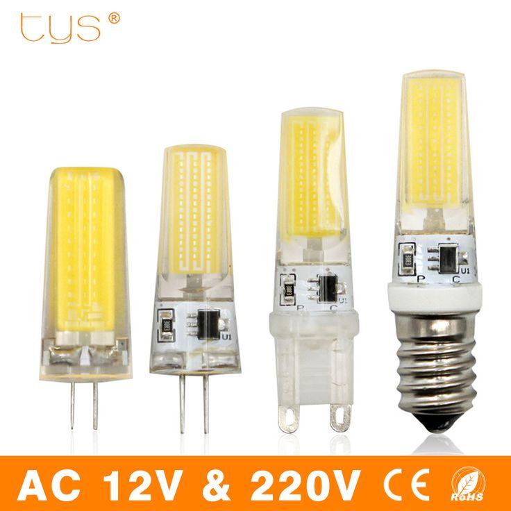 Lampada LED Lampe G9 G4 E14 220 V 3 W 6 W 9 W Dimmable Bombillas LED Ampoule G4 AC DC 12 V COB Lumière Remplacer Spot Halogène Lustre
