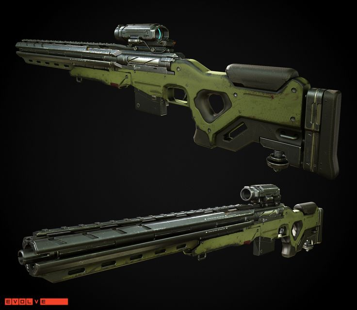 ArtStation - Evolve - Kinetic Long Rifle, Mike Brainard