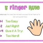 Teach children how to find their just right books using the 5 finger rule! ...