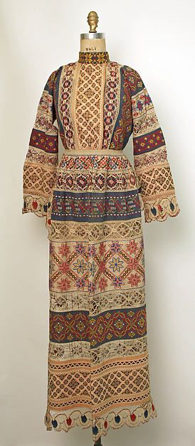 Russian cotton and linen ensemble, 1850-1925.