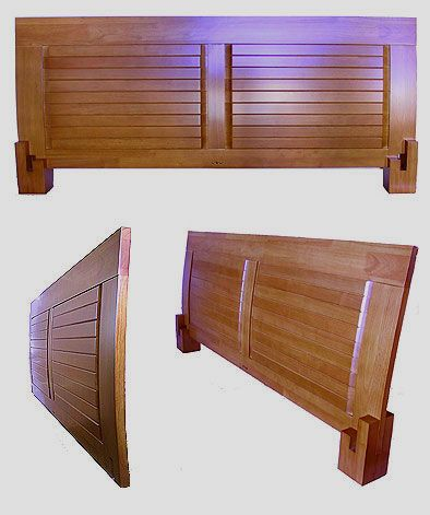 headboard detail for japanese platform bed headboard simply interlocks into the bed rails and legs - Japanese Platform Bed