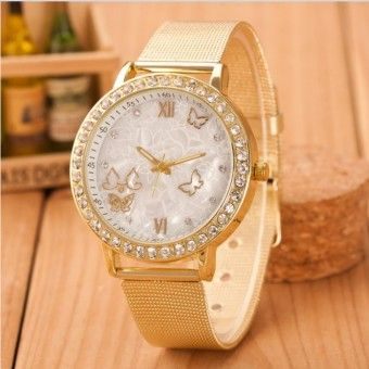 Good Prices VANIER-Ladies Crystal Rhinestones Butterfly Gold Stainless Steel Mesh Band Wrist Watch Gold.Order in good conditions VANIER-Ladies Crystal Rhinestones Butterfly Gold Stainless Steel Mesh Band Wrist Watch Gold. You save OE702OTAA68166ANMY-12700603 Watches Sunglasses Jewellery Watches Women OEM VANIER-Ladies Crystal Rhinestones Butterfly Gold Stainless Steel Mesh Band Wrist Watch Gold.