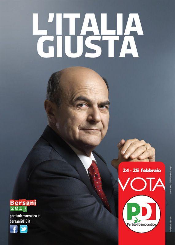 Pier Luigi Bersani - 2013 - Partito Democratico - Political Poster